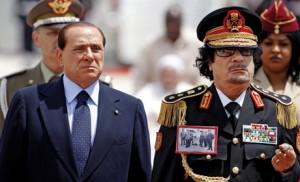 Berlusconi et Kadhafi