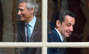 Dominique de Villepin et Nicolas Sarkozy, photo Franck Prevel (flickr.com).