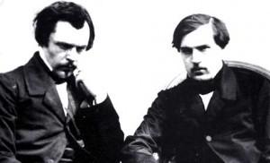Edmond et Jules Goncourt, par Nadar.