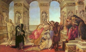 Sandro Botticelli, La Calomnie d'Apelle, vers 1495.