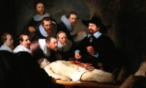 Rembrandt, La leçon d'anatomie, 1632.