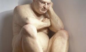 Ron Mueck, Big Man, 2000, technique mixte 205,7 x 117,4 x 208,8 cm