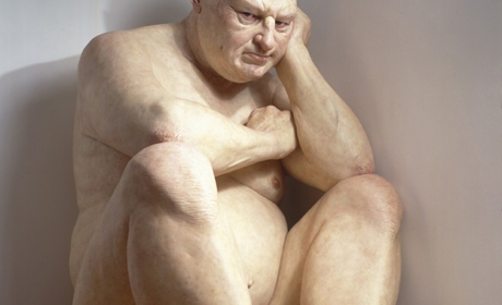 Ron Mueck, Big Man, 2000, sculpture technique mixte