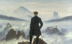 Caspar David Friedrich, Le Voyageur au-dessus de la mer de brume, 1818, Kunsthalle, Hambourg.