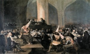 Goya, Tribunal de l'Inquisition, 1812-1814.