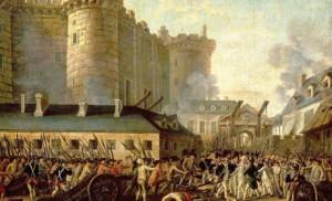 Anonyme, XVIIIe siècle,  La prise de la Bastille.