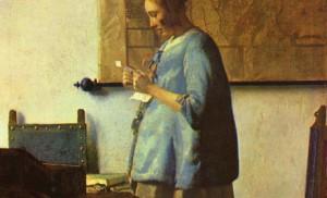 Jan Vermeer, Femme en bleu lisant une lettre