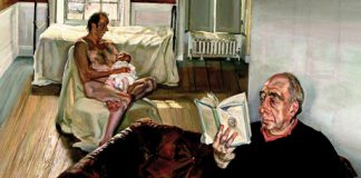 Lucian Freud, Grand Intérieur, Notting Hill, 1998, huile sur toile.