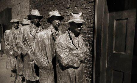 File d'attente pour du pain, Mémorial Franklin Roosevelt