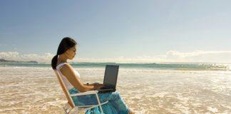 Internet à la plage