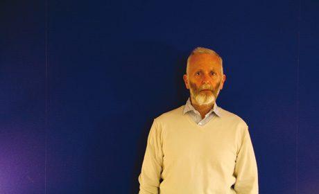 Renaud Camus, Autoportrait sur fond bleu, avril 2010