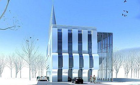 Projection de la future mosquée de Varsovie