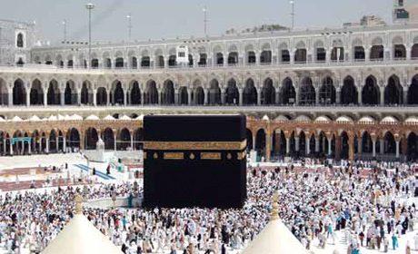 La Kaaba à la mosquée Al-Masjid al-Haram de La Mecque