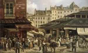 Giuseppe Canella, Les Halles et la rue de la Tonnellerie.