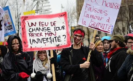 Etudiants québécois en grève : Indignés mais pas seulement...