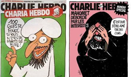 Charb de Charlie Hebdo, assassiné... - Page 6 Charlie-hebdo-caricatures-mahomet
