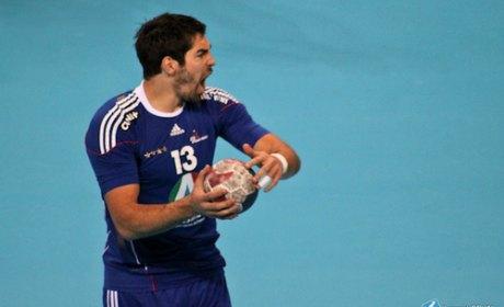 Le joueur de handballeur Nikola Karabatic à Montpellier