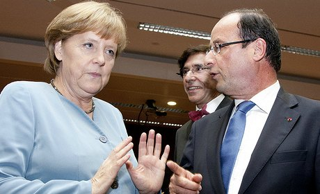 merkel hollande elysee