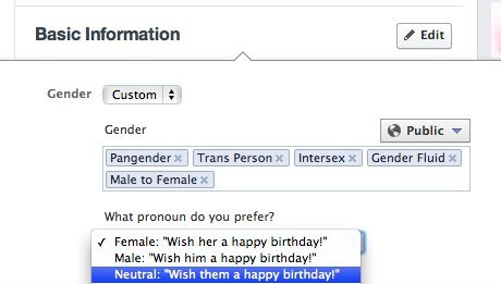 facebook genre queer