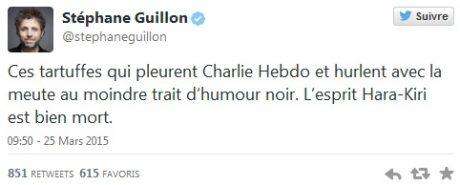 tweet Guillon Charlie Hebdo