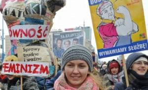 pologne feminisme inegalites