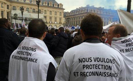 manifestation policiers place Vendôme