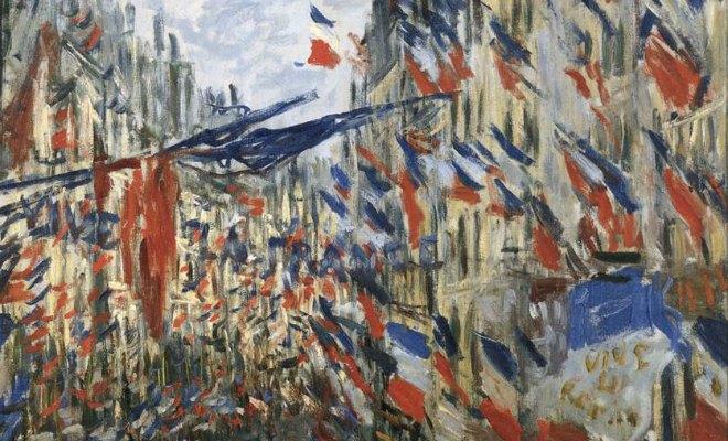 drapeau attentats paris monet