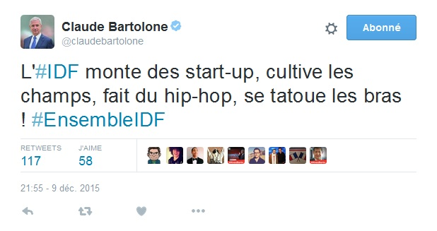 tweet Claude Bartolone tatouage
