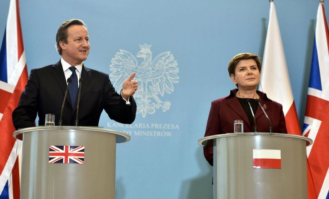 cameron immigration pologne hongrie
