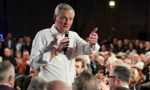 Bruno Le Maire, hier soir, à Vesoul (Photo : SIPA.00743726_000028)
