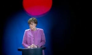 Angela Merkel lors de la rencontre entre le gouvernement allemand et le gouvernement turc, fin janvier à Berlin, sur la question des migrants (Photo : SIPA.00739011_000004)