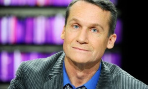 Andreï Makine, en 2013, sur le plateau de l'émission de France 5 «La Grande librairie» (Photo : SIPA.00657375_000012)