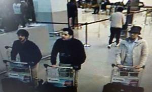Les frères El Bakraoui à l'aéroport de Zaventem (Photo : SIPA.AP21874376_000102)