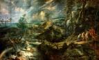 Paysage de tempête avec les vieillards phrygiens Philémon et Baucis, par Pieter Paul Rubens, 1620 (Wikimedia commons - cc)