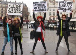 Rassemblement pour Jacqueline Sauvage, place de la Bastille à Paris, le 23 janvier dernier (Photo : SIPA.00739153_000017°