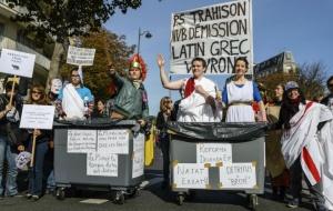 Manifestation contre la réforme du collège à Paris, le 10 octobre 2015 (Photo : Citizenside/Samuel Boivin)