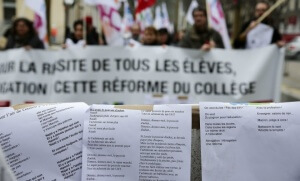 Manifestation à Nîmes, fin janvier 2016 (Photo : SIPA.00739590_000012)