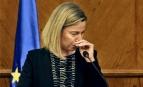 Federica Mogherini, chef de la diplomatie européenne, réagit à l'annonce des attentats de Bruxelles lors d'une conférence à Amman, Jordanie, 22 mars 2016 (Photo : SIPA.AP21874025_000001)