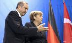 Recep Erdogan et Angela Merkel, en février 2014, à Berlin (Photo : SIPA.AP21518086_000010)