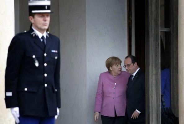 Conférence de presse commune d'Angela Merkel et François Hollande à l'Elysée, le 4 mars 2016.