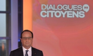 François Hollande sur le plateau de l'émission «Dialogues citoyens» (Photo : SIPA.00751237_000003)