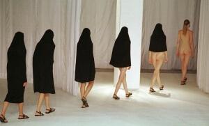 Un défilé de mode à Londres en 1997 (Photo : SIPA.00313427_000001)