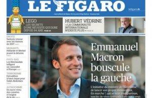 La une du «Figaro» du 7 avril dernier.