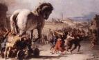 La Procession du cheval de Troie par Tiepolo.