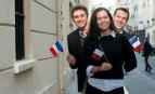 Alexandre, Sarah et Nicolas, étudiants à Sciences-Po (Photo : Hannah Assouline)