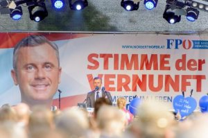 Meeting de Norbert Hofer du FPÖ (Photo : SIPA.00756626_000009)