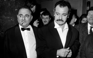 Bruno Coquatrix et Georges Brassens à l'Olympia, le 7 décembre 1962 (Photo : AFP)