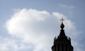Une vue du sommet de la basilique Saint-Pierre de Rome (Photo : SIPA.AP21368383_000021)