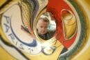 Jacques de Loustal dans son atelier parisien, en 2007. (Photo: SIPAUSA30068501_000017)