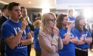 Des partisans du maintien du Royaume-Uni dans l'Union européenne (Photo : SIPA.AP21913876_000023)
